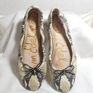 Sam Edleman Snakeskin Ballet Flats Womens Size 6.5